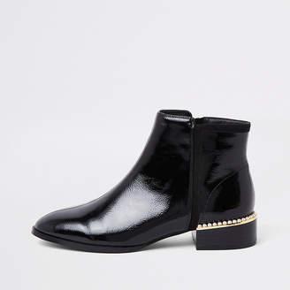 River Island Black pearl embellished ankle boot
