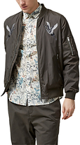 Selected Homme Bertram Bird Souvenir Bomber Jacket, Black Olive