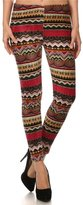 ShoSho Women's Plus Size Printed Faux Fur Lined Stretch Velvet Leggings-3XL/4XL
