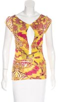Just Cavalli Abstract Print Short Sleeve Top
