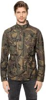 Belstaff Tyefield Waxed Camo Cotton Field Jacket