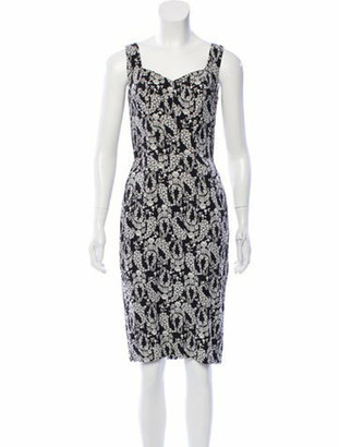 Dolce & Gabbana Sleeveless Knee-Length Dress Black