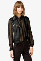 Forever 21 Studded Faux Leather Moto Vest