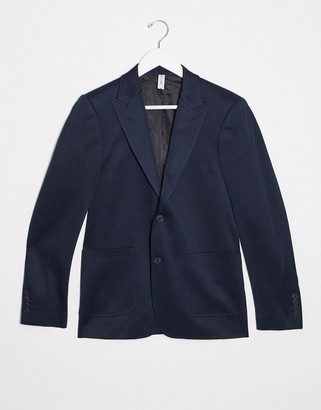 ONLY & SONS soft deconstructed suit jacket in navy