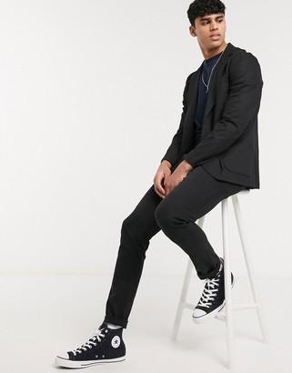 Asos DESIGN two-piece skinny chinos in elastic waist in black