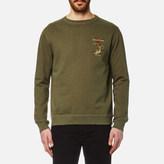 Maharishi Integrated Crew Sweatshirt Maha Olive
