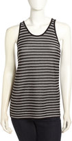 Alexander Wang Striped Scoop-Neck Tank