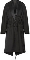 Alexander Wang Silk Satin-trimmed Wool And Mohair-blend Parka - Black