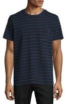 Rag & Bone Striped Pocket T-Shirt, Navy