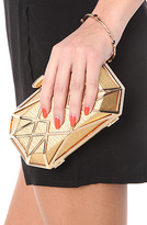 Urban Expressions The Opulence Clutch in Gold