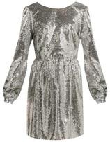 Saloni Camille Sequinned Mini Dress - Womens - Silver