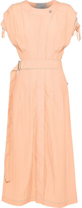 Jason Wu Belted Crinkled-poplin Midi Dress