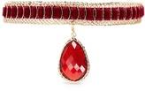Rosantica 'Leva' detachable charm velvet textured wire choker