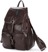Greeniris Ladies Genuine Leather Backpack for Women/Teenage Girls