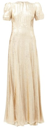 The Vampire's Wife The American Chevron Wool-blend Lame Gown - Gold