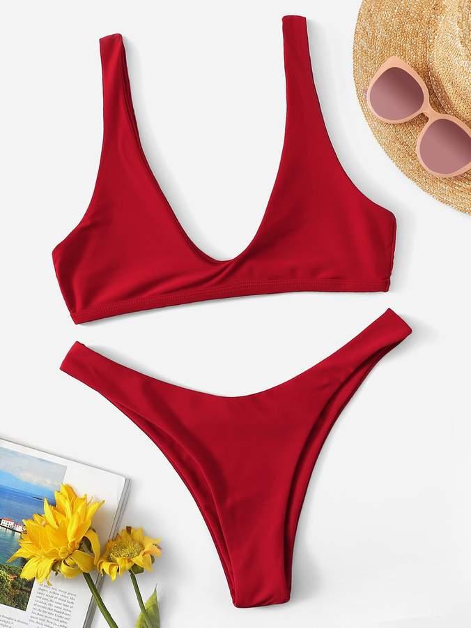 11e609d597 Green And Red Bikini - ShopStyle