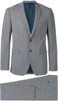 Tonello check formal suit