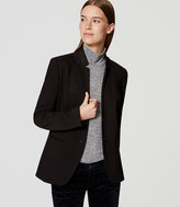 LOFT Two Button Knit Notched Blazer