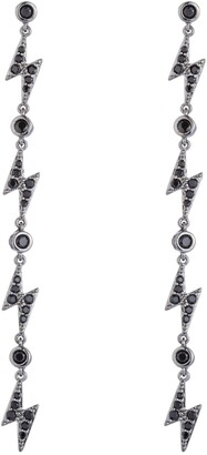 Eye Candy Los Angeles Bolt CZ Crystal Dangle Earrings