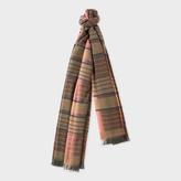 Paul Smith Women's Khaki Check Wool-Blend Scarf