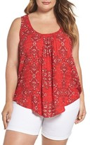 Lucky Brand Plus Size Women's Paisley Tank