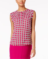 Nine West Printed Split-Neck Blouse