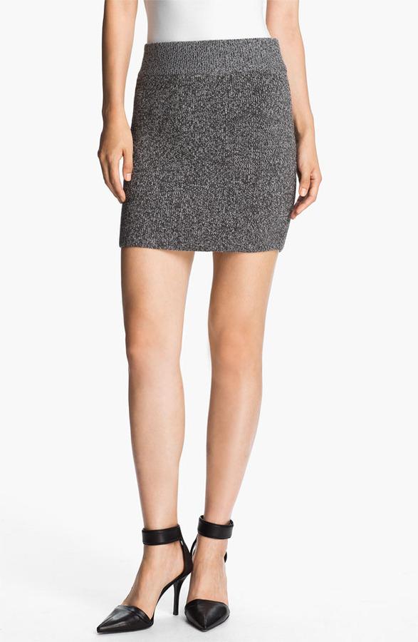 Alexander Wang Marled Knit Miniskirt