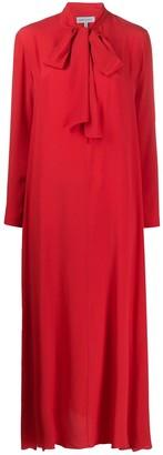 ODYSSEE Hoyt pussy-bow maxi dress