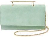 M2Malletier Alexia Suede And Leather Shoulder Bag - Mint