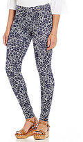 MICHAEL Michael Kors Tansy Floral Print Stretch Twill Knit Leggings