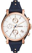 Fossil Women's ES3838 Original Boyfriend Chronograph Leather Watch