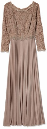Cachet Women's Pleated Lace Gown