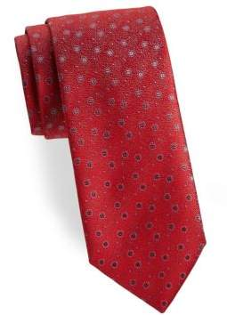 Charvet Split Pea Silk Tie
