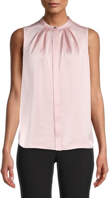 Anne Klein Satin Crepe Blouse