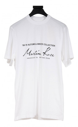 Martine Rose White Cotton T-shirts