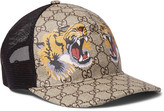 Gucci Supreme Printed Coated Canvas and Mesh Baseball Cap
