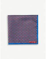Thomas Pink Elephant-print silk pocket square