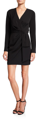 Jay Godfrey Meyer Long-Sleeve Mini Surplice Dress