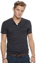 Rock & Republic Men's Textured Henley Tee