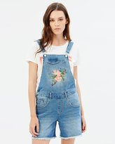 Only Kim Rose Short Denim Overalls