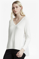French Connection Mozart Hybrid Woven Back Jumper