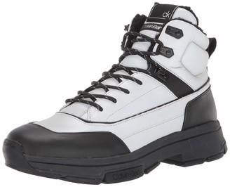 Calvin Klein Men's Cillian Smooth Calf/Reflective Nylon Boot Black/Silver 8
