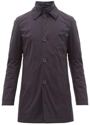 Herno Quilted Technical Overcoat - Mens - Navy