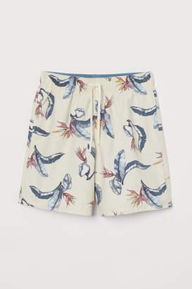 H&M Patterned Swim Shorts - Orange