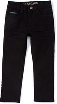 U.S. Polo Assn. Black Wash Five-Pocket Flex Jeans - Boys