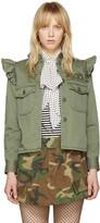 Marc Jacobs Green Shoulder Ruffle Jacket