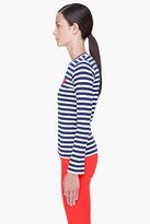 Comme des Garcons Striped Red Emblem T-Shirt