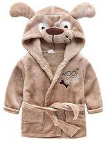 Winter Pajamas Kids Lovely Cartoon Animal Flannel Bathrobe Pajamas Baby Night-robe (L, )