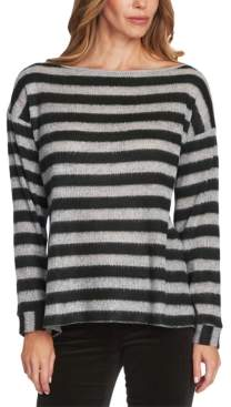 Vince Camuto Striped Boat-Neck Sweater