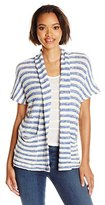 Splendid Women's Ohana Stripe Loose Knit Sleeveless Cardi